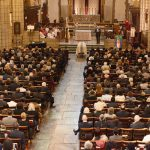 Hundreds attended the funeral service.
