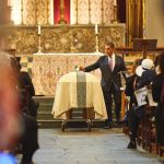 Congressman Adriano Espaillat pays his final respects.