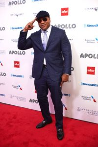 The ladies' man, LL Cool J, arrives on the carpet.
