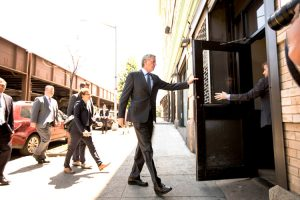 Mayor Bill de Blasio visited the Cayuga Center on Park Avenue.