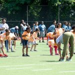 The youths took part in fitness drills.