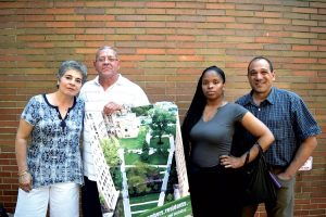 From left: Residents Lisa Stepanian, Robert Ortiz Ayisha Ogilvie, and Michael Hano oppose the Haven Plaza plan.