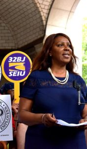 Letitia James announced a comprehensive agenda to protect workers.