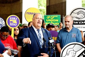 """We're all in the same fight,"" said Gary LaBarbera, President of the Building and Construction Trades Council."