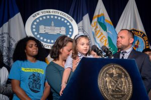 4-year-old Luciana spoke during a press conference at City Hall.