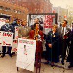 Shepard, vista aquí en una protesta en 1988, ha abogado durante mucho tiempo por la justicia ambiental.