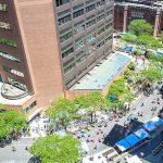Una vista aérea de la plaza propuesta en 2016. Foto: CUMC