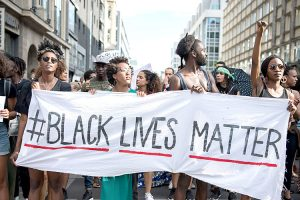 Activistas de Black Lives Matter.