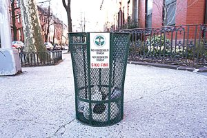 The city is home to more than 23,000 litter baskets.
