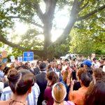 The vigil was held at Billings Lawn.