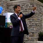 Councilmember Ydanis Rodríguez at the National Night Out event.