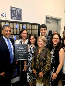 The Michels family with Rep. Adriano Espaillat.