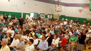 Residents packed the August 7th forum.