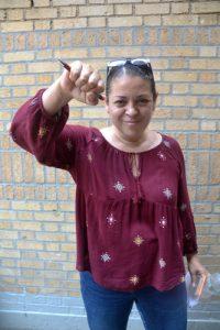 """""""The rezoning is about colonization,"""" said Lena Meléndez. Photo: D. Johnson"""