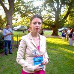 """""""El retroceso tiene que ser más grande que nunca"""", dijo Melanie Robbins de la Liga Anti-Difamación de Nueva York."""