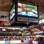 The tournament was broadcast on the Jumbotron.
