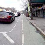Actualmente hay dos carriles protegidos para bicicletas en la calle Dyckman.