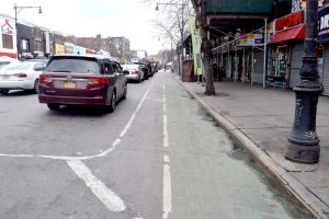 There are currently two protected bike lanes on Dyckman Street.