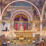 La iglesia ortodoxa griega St. Spyridon se ha sometido a una restauración significativa.