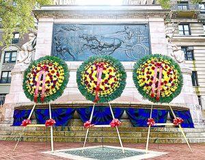 El Monumento a los Bomberos fue dedicado en 1913.
