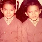 Carranza, here with his twin brother Reuben, did not learn English until entering elementary school.