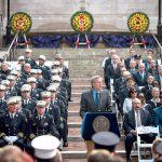 """""""[El] compromiso que nunca termina"""", dijo el alcalde Bill de Blasio. Foto: FDNY"""
