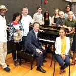 """[Music] is a healing power,"" said Jazz Power Initiative Founder Eli Yamin (center)."