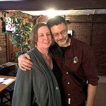 Con su esposo Ted Minos.