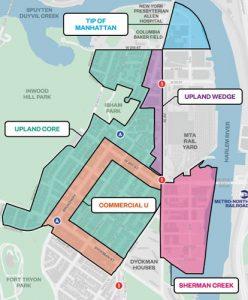 El mapa de rezonificación presentado por la Corporación de Desarrollo Económico de la ciudad (EDC, por sus siglas en inglés).