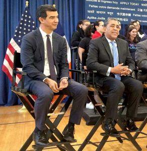 In attendance were (from left): Councilmember Ydanis Rodríguez and Congressman Adriano Espaillat.