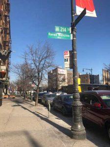 La calle fue co-nombrada en junio de 2017.