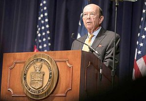 Commerce Secretary Wilbur Ross is due to testify again before Congressional lawmakers.